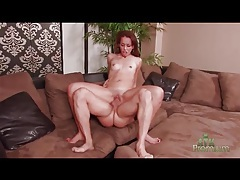 Petite girl with big cock fucking her twat tubes