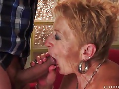 Granny cocksucker fucked in wet old pussy tubes