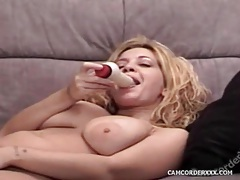 Solo girl with big natural tits dildo fucks pussy tubes