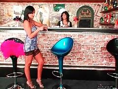 Slut in the bar sucks cock of horny guy tubes