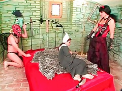 Kinky costume play in a femdom fetish video tubes