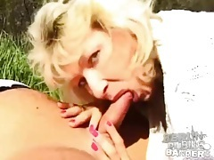 Sunny day sex in the grass with a cute blonde tubes