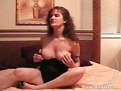 Webcam milf uses toys and models lingerie tubes
