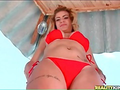 Tattooed brazilian with curves models bikini tubes