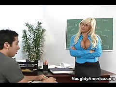 Seductive teacher puma swede blows student tubes