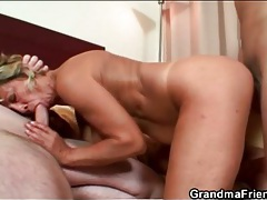 Sexy milf threesome hardcore with two guys tubes