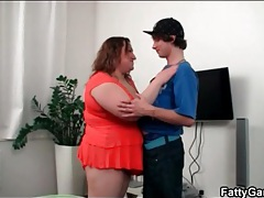 Skinny dude gets sexy titjob from fat girl tubes
