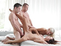 Nubile films - gina licking jizz off of didos perfect ass tubes