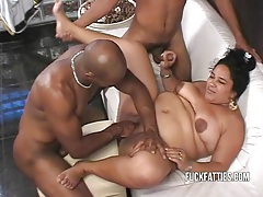 Hot bbw latina get dp by two hot black stallions tubes