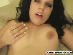 Amateur girlfriend gets anal fuck with creampie tubes