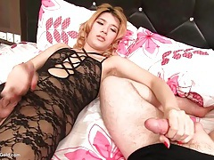 Ladyboy lisha masturbating tubes