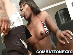 Gabriel hunter - black teen gets pussy stretched by a bbc tubes
