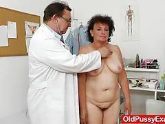 Fuck hole examination plus a basty grandmother tubes