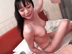 Spit soaked japanese blowjob with ball sucking tubes