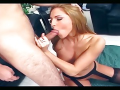 Fucking in sheer black stockings and high heels tubes