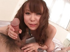 Feet and mouth of japanese girl arouse him tubes