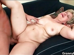 Granny given hard fucking in her tight cunt tubes