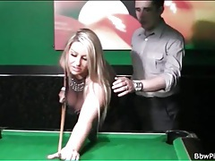Seducing sexy bbw in pool hall tubes
