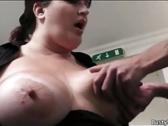 Horny fat girl in the office sucks dick tubes