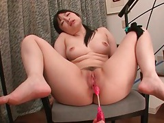Dildo slides into pussy of hina maeda tubes