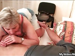 Naughty mother in law sucks his cock tubes