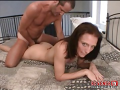 Cute gf blows him and takes ass fuck tubes
