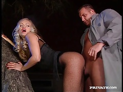 Fishnets babe kitty sixx sucks dick and fucks tubes