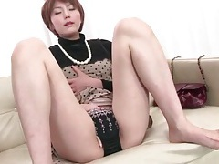 Classy japanese housewife fingers pussy tubes