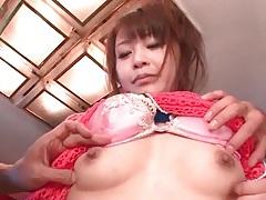 Two guys fondle and lick japanese girl tubes