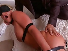 Two guys fondle a tied up kathia nobili tubes