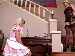 Mistress and her french maid in kinky play tubes