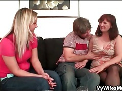 Wife watches him with his mother in law tubes