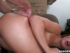 Slut callie calypso fucked on office chair tubes