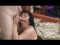 Fat mom in lingerie sucks dick and gets fucked tubes