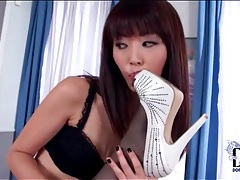 Lingerie sets on two sexy girls that lick feet tubes