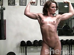 Pornstar inari vachs works out in the gym tubes