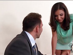 Secretary tease in short skirt wants her pussy licked tubes