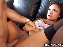 Asian babe annie cruz takes it in her ass and pussy tubes