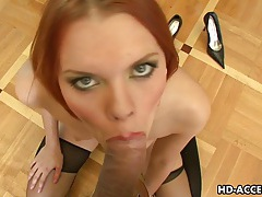 Hot blowjob from redhead masha tubes