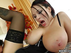 Big tit job and cum shot for dominno tubes