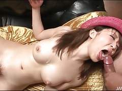 Cum loads in the mouth of japanese hottie tubes