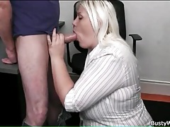 Sexy bbw blowjob from his secretary tubes