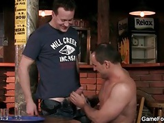Thick cock fucks hot bitch in the bar tubes