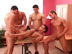 Gay gangbang and straight 69 in hot porn tubes