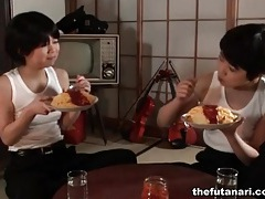 Androgynous japanese chicks with dicks tubes