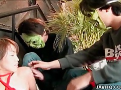 Tied up japanese chick groped by guys tubes