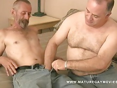 Fat daddy gets his ass barebacked by skinny lover tubes