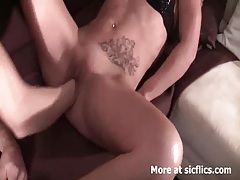 Fisting and foot fucking the wifes greedy cunt tubes