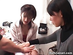Finger sucking with asian tgirl and lover tubes