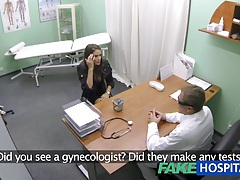Fakehospital hot girl with big tits gets doctors treatment before learning she can squirt tubes